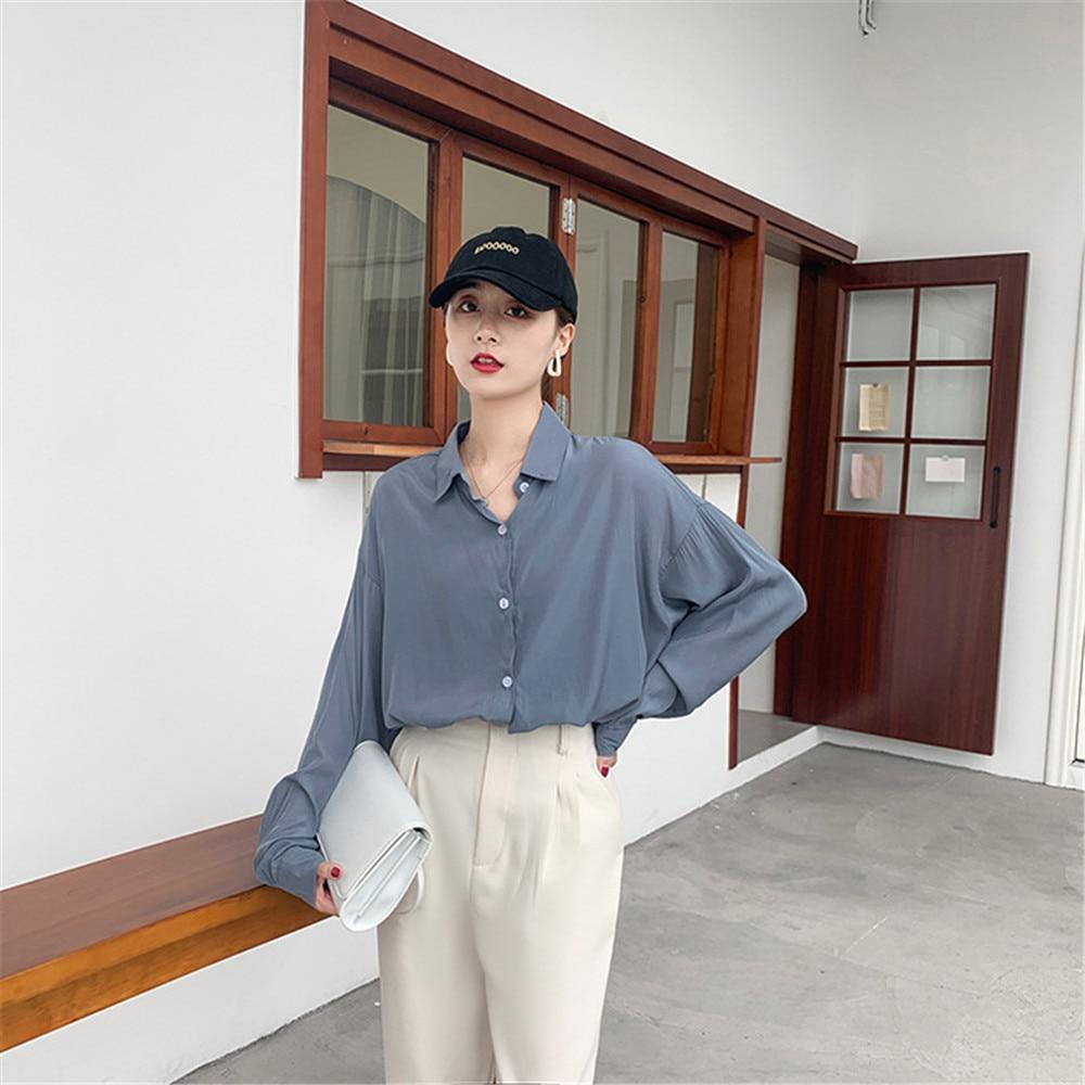 Spring Women Blouse 2020 Summer Blouse Korean Long Sleeve Womens Tops Blouses Vintage Woman Shirts Blusas Roupa Feminina Tops (10)