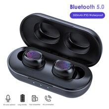 Lovebay B5 TWS Bluetooth 5.0 Wireless Earphone Touch Control 6D Stereo Earbuds W