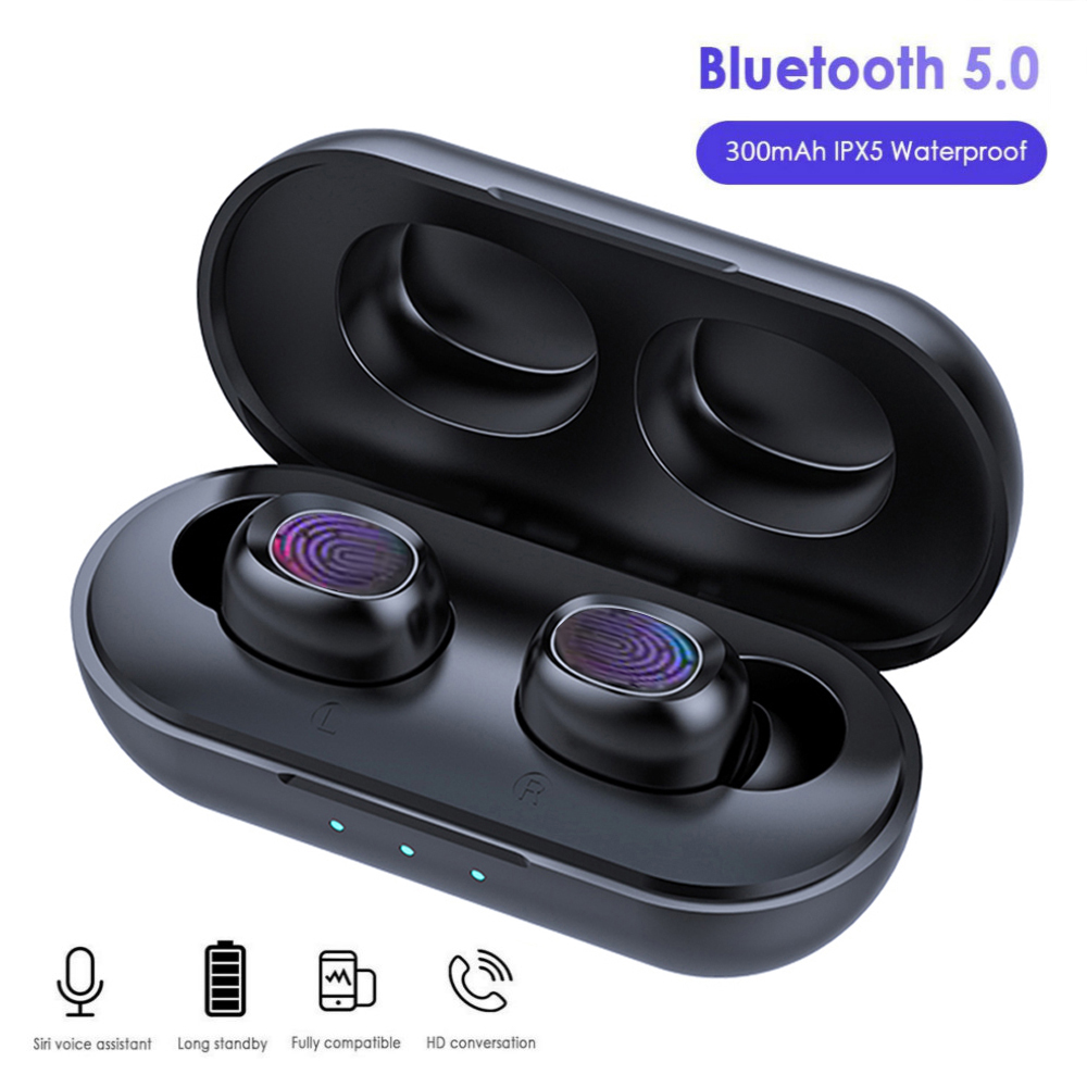 Lovebay B5 <font><b>TWS</b></font> Bluetooth 5.0 Wireless Earphone Touch Control <font><b>6D</b></font> Stereo Earbuds Waterproof Handsfree Headset With Charging Case image
