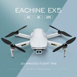 Eachine EX5 RC Quadcopter Drone Hélicoptère 4k GPS HD Mini Caméra Professionnel Avec GPS 1000200 MÈTRES 5G WIFI FPV avec grand angle Pliable Télécommande Jouets Racing Big Drones Brushless Motor RTF VS E58
