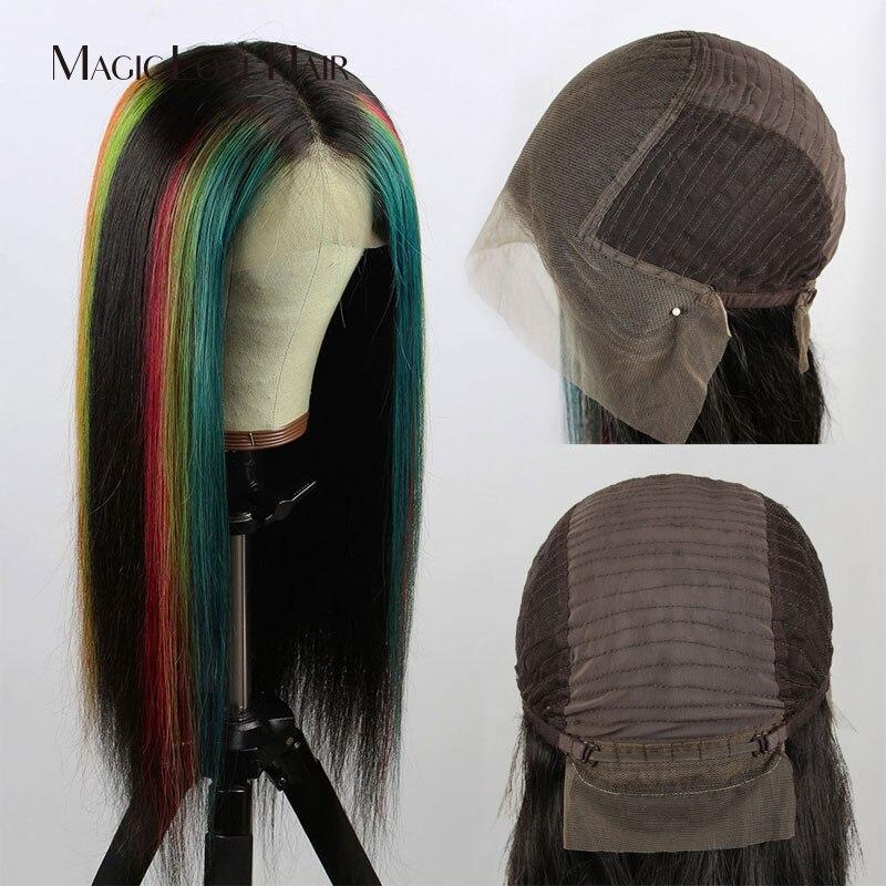 Волшебная любовь волосы индивидуальные 13x6 кружевные передние человеческие волосы парики предварительно сорванные с детскими волосами бра... - 5