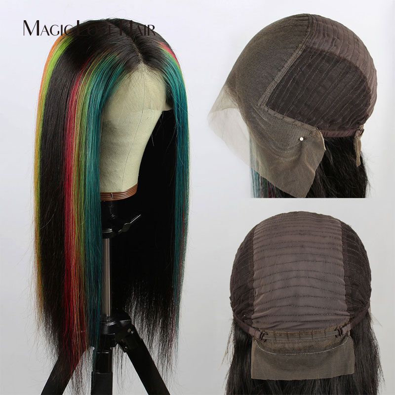 Magie Liebe Haar Angepasst 13x6 Spitze Front Menschliches Haar Perücken Pre Gezupft Mit Baby Haar Brasilianische Gerade Für schwarz Frauen - 5