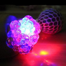 Relief-Toys Grape Stress Mesh Ball Squeeze Funny Colorful Kids LED for Adult And Gifts
