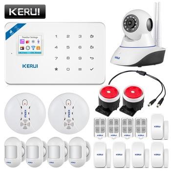 Original KERUI WI8 Wireless PIR Detector Smart WIFI GSM Burglar Security Alarm System  IOS/Android APP Control Smart Home 1