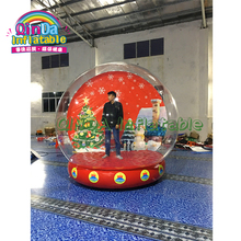 цена на Promotion Christmas Inflatable Snow Globe For Sale, Giant PVC Bubble Room For Christmas Inflatables Phtot Booth ball