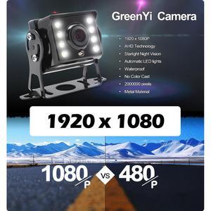Image 2 - GreenYi AHD Запись DVR 7 дюймов Автомобильный монитор с 1920*1080P камера заднего вида для грузовика автобуса поддержка SD карты