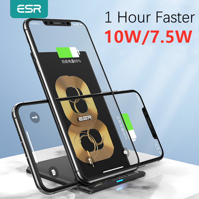 ESR Fast Qi Wireless Quick Charger 10W 7.5W for iPhone 11 Pro Xs Max Xr X 8 Plus Stand Fast Charging for Samsung S10 S9 S8 Plus