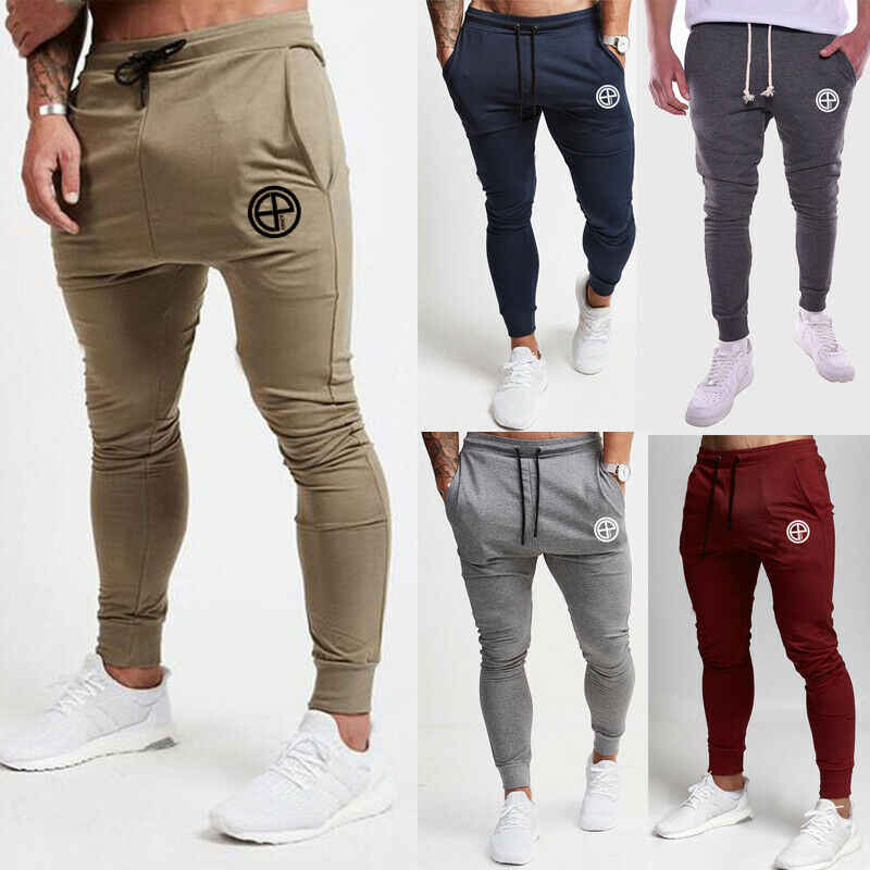 Mannen Slim Fit Trainingspak Jogger Sport Gym Bodybuilding Running Track Broek Joggingbroek Skinny Jogging Joggers Zweet Broek