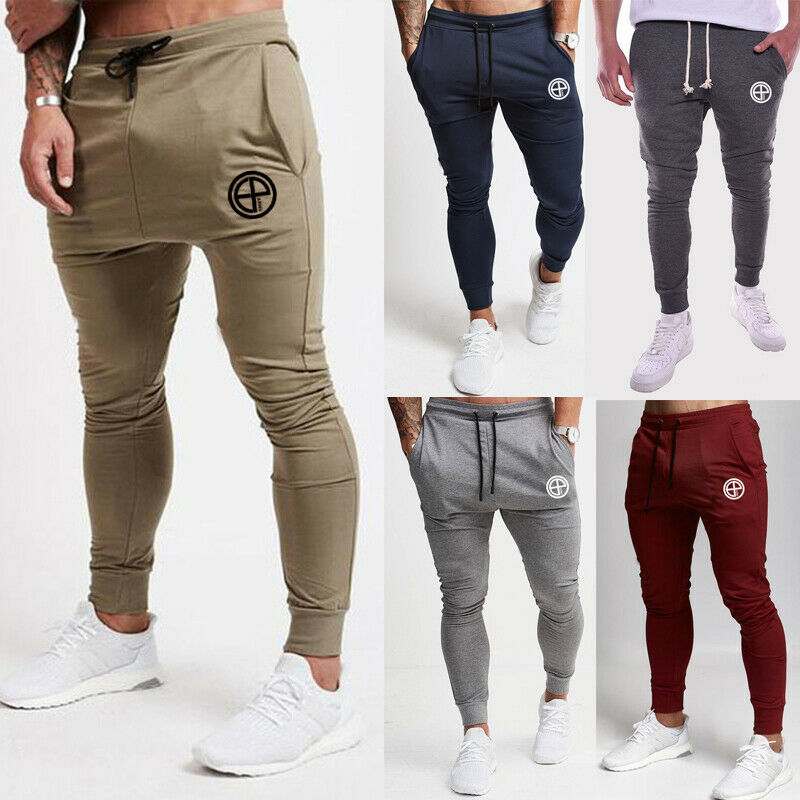 Men Slim Fit Jogger Sports Gym Bodybuilding Running Track Trousers Sweatpants