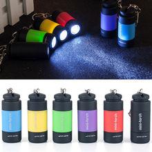 Portable LED Mini Flashlight USB charge 0.5W Key Chain Torch Outdoors Waterproof Battery Hiking Camping Flashlights