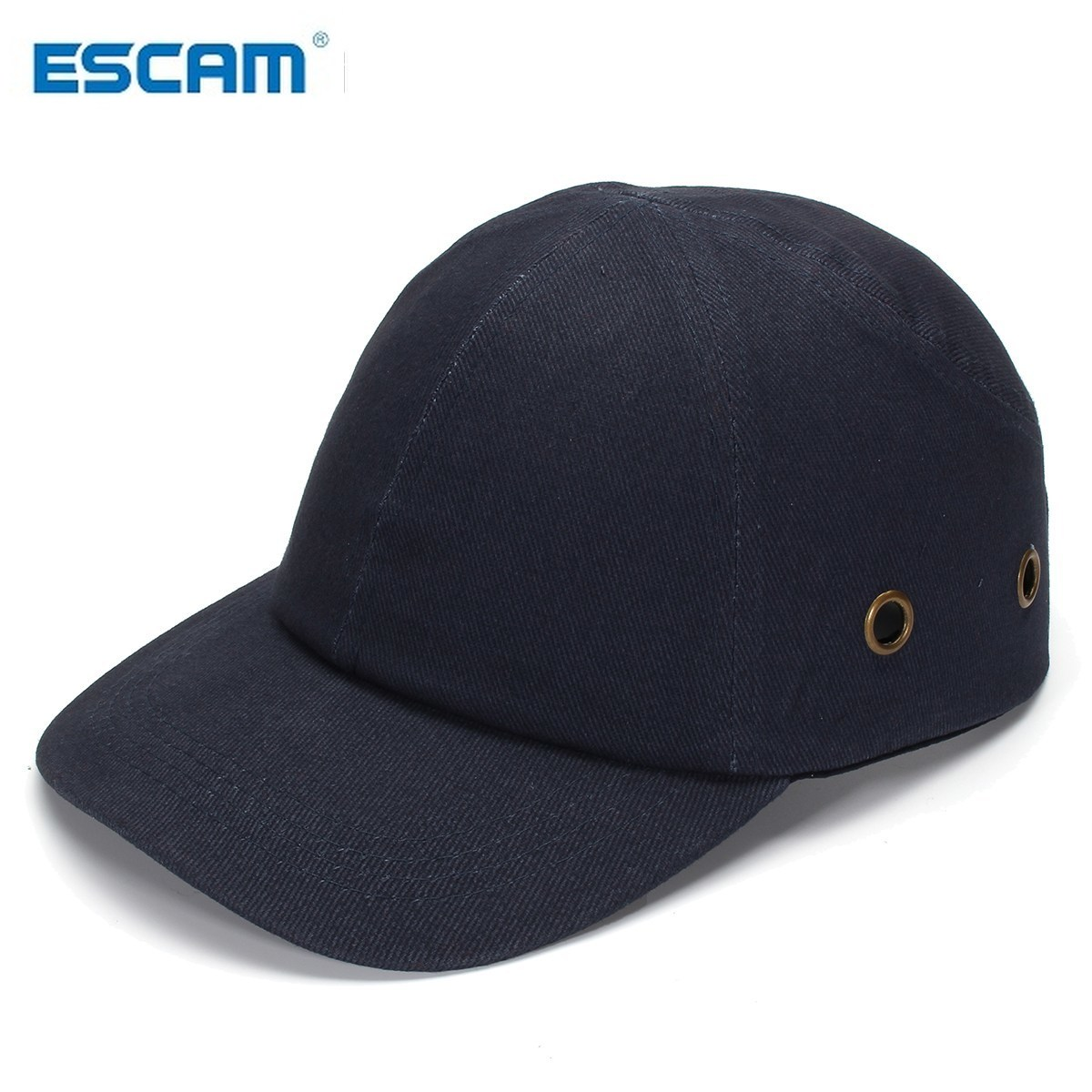 ESCAM Blue Baseball Bump Caps - Lightweight Safety Hard Hat Head Protection Caps Workplace Safety Helmet