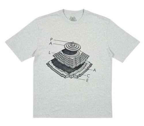 New Streetwear Neue Palaca Skateboards Pyramidal T-Shirt Grau Mergel T Fw18 Neue Mode Männer Frauen Größe S-3Xl