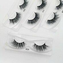 10 paires de cils de vison en gros maquillage doux réel 3d cils de vison en vrac naturel faux cils moelleux croix cils extension
