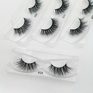 Image 1 - 10 paires de cils de vison en gros maquillage doux réel 3d cils de vison en vrac naturel faux cils moelleux croix cils extension