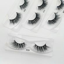 10 pairs mink eyelashes wholesale makeup soft real 3d mink lashes in bulk natural false eyelashes fluffy cross lashes extension