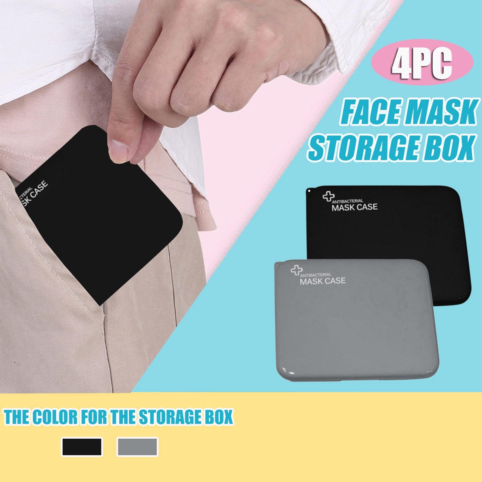 4 adet moda maskesi kapak çantası taşınabilir yüz maskesi tutucu yüz maskesi saklama kutusu kılıfı tasarrufu maskesi kutuları caja para guardar mascarillas