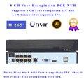 Распознавание лица POE NVR 8 CH P2P IP видео Регистратор поддерживает 5 Мп IPC вход H.265 Onvif целевой счет для ip-камеры наблюдения