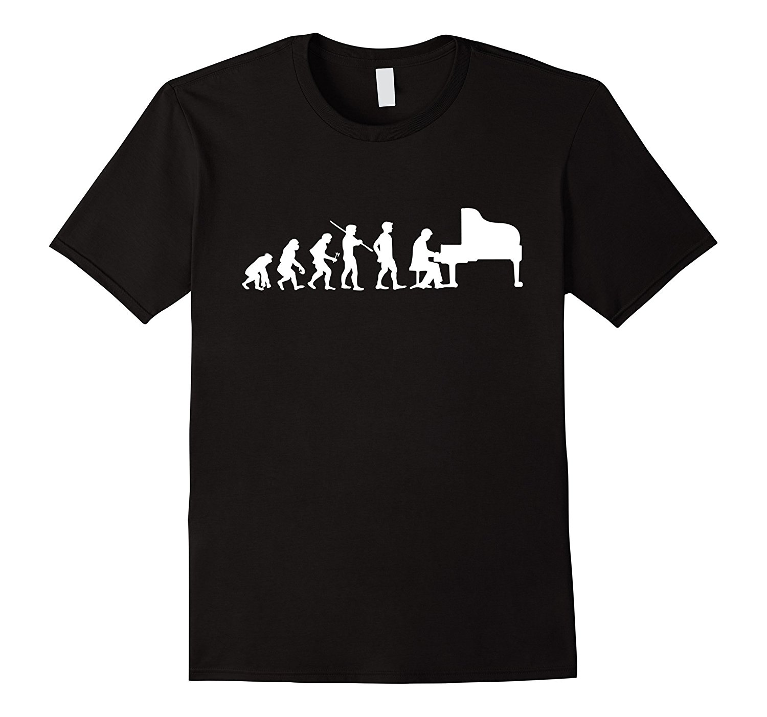 Evolution Piano Player Pianist Funny T-shirt Orchestra Gift Short Sleeve Summer Style Ment Shirt Summer Style Tops Men T Shirts image