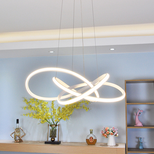 Image 5 - Black/White modern led chandelier lighting for living room bedroom restaurant kitchen pendant chandeliers home indoor lighting