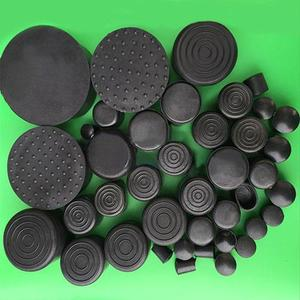 Image 1 - 20PCS/lot 32 35 38 40 42 45 48 50 60 63mm Round chair leg feet cap,cover pad furniture pipe protector floor scratch proof damper