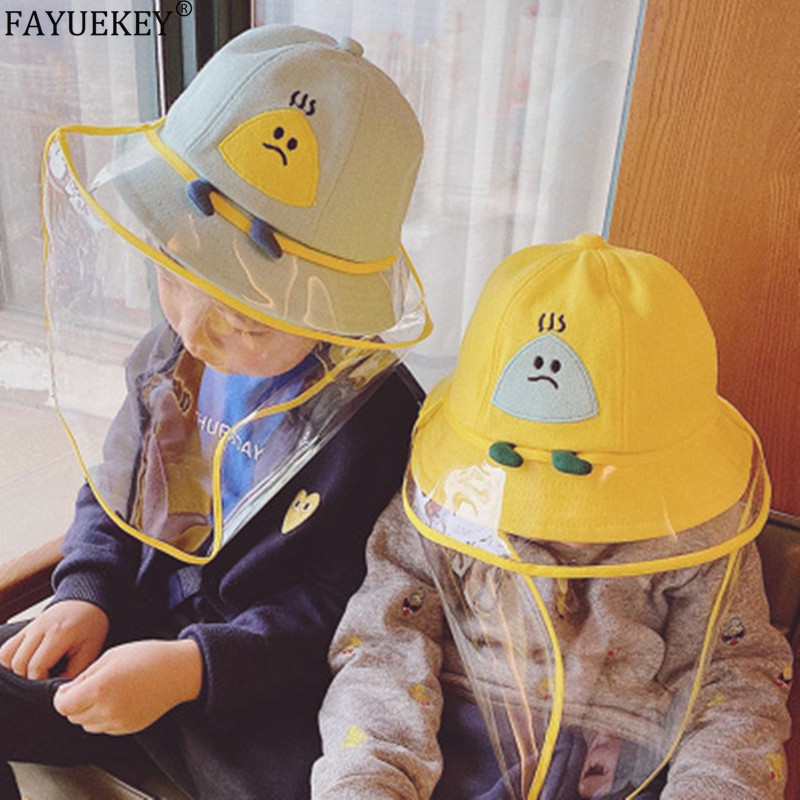 Children Hat Sun Hat Anti-spitting Protective Cap Prevent Kids From Saliva Dustproof Cover Against Droplet Bucket Hats