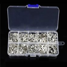 цена на 320Pcs/box Metal Terminals Non-Insulated Ring Fork U-type Brass Terminals Kit 23GB