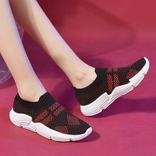 Ladies Sneakers Fashion Women Mesh Casual Slip-On Sport Shoes Running Breathable Shoes Sneakers Outdoor Walking Shoes цены