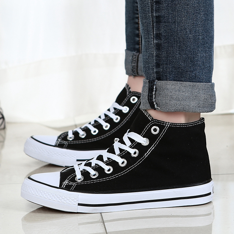 High Top Mesh Tide Rubber Breathable Sneakers Men Top Quality Non-Slip Lace Up Shoes Men Converse All Star Zapatillas De Deporte