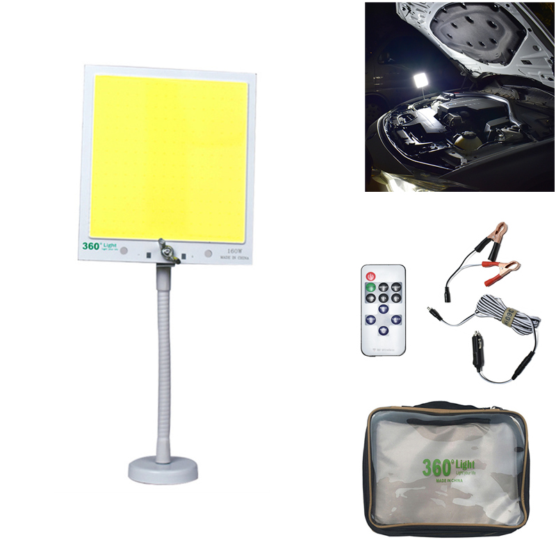 Portatile Faretti Lanterna 50W 12V foco led di Campeggio Esterna della Tenda di Luce base magnetica di Riparazione Auto luce del lavoro Ricaricabile