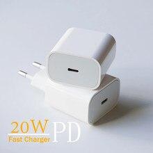 PD 20 Вт USB-C адаптер питания для зарядки электроники с разъемами стандартов США ЕС штекер QC3.0 18W смарт-телефон быстрое зарядное устройство для ...