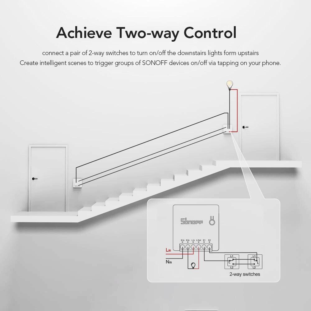 2PCS SONOFF MINI Two Way Intelligenter Schalter Smart Life APP-Steuerung Amazon