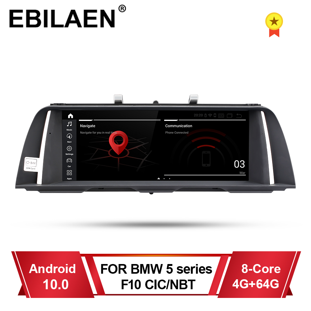 EBILAEN Car Multimedia Player For BMW 5 Series F10 F11 2011-2016 CIC NBT Autoradio Android 10.0 Navigation 520i Stereo GPS 4G