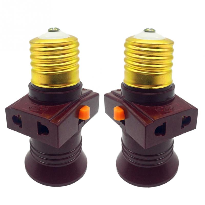 2pcs E27 Lamp Socket Multi-purpose Socket Switch Lamp Holder  Hole Bakelite Shell Flame Retardant Material Bulb Holder 220V