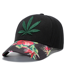 Fashion Leaf  Printed Skateboard Cap Men and Women Baseball Cap Hip Hop fashion women s rivets and sewing thread embellished baseball cap