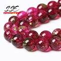 Натуральный камень красный кристалл кварца круглые свободные бусины треск бусины 6 8 10 12 мм выбрать размер 15