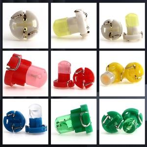 Image 2 - أضواء لوحة القيادة للسيارة LED ، T3 F8 1SMD ، لمبات إسفين COB ، مصباح مجموعة الأدوات ، 12 فولت ، مؤشر تحذير ، الإضاءة الداخلية ، 100 قطعة