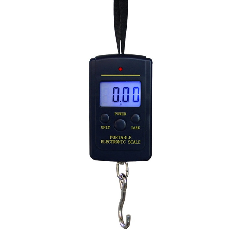 Image 2 - 40kg x 10g Mini Digital Luggage Scales For Fishing Travel Kitchen Weighting Steelyard Electronic Hanging Hook Scale Weight Tools-in Weighing Scales from Tools