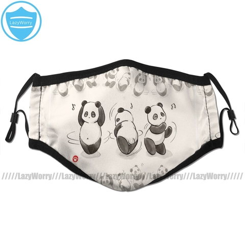 Facial de Dança Máscara para Adultos com Boca de Panda Máscara