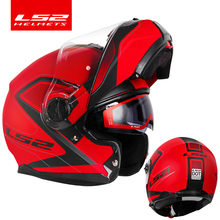 LS2 Casco estroboscópico abatible hacia arriba para moto, cascos integrales para moto, capacete, homologado por DOT