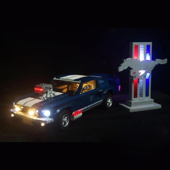 Battery Powered LED Lighting Kit For Ford Mustang 10265 Blocks Accessories Kids Toys Gift (LED Included Only, No Kit) image