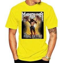 Manowar uma batalha final da turnê eua preto tamanho s-2xl de alta qualidade para o homem melhor t-shirt 2021