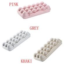 Taca na jajka uchwyt jajko gorąca sprzedaż schowek lodówka Crisper pojemnik do przechowywania 30*15*6.5cm PP plastikowa taca na jaja taca na jajka uchwyt gospodarstwa domowego