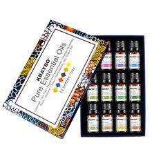 10 мл* 12 шт. чистый эфирный набор эфирных масел для ароматерапии диффузор лаванды Лемонграсс масло свежий воздух массажный увлажнитель диффузор