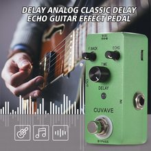 Guitar Effect Pedal With Classic Delay CUVAVE DELAY Analog Echo Zinc Alloy Shell True Bypass Parts