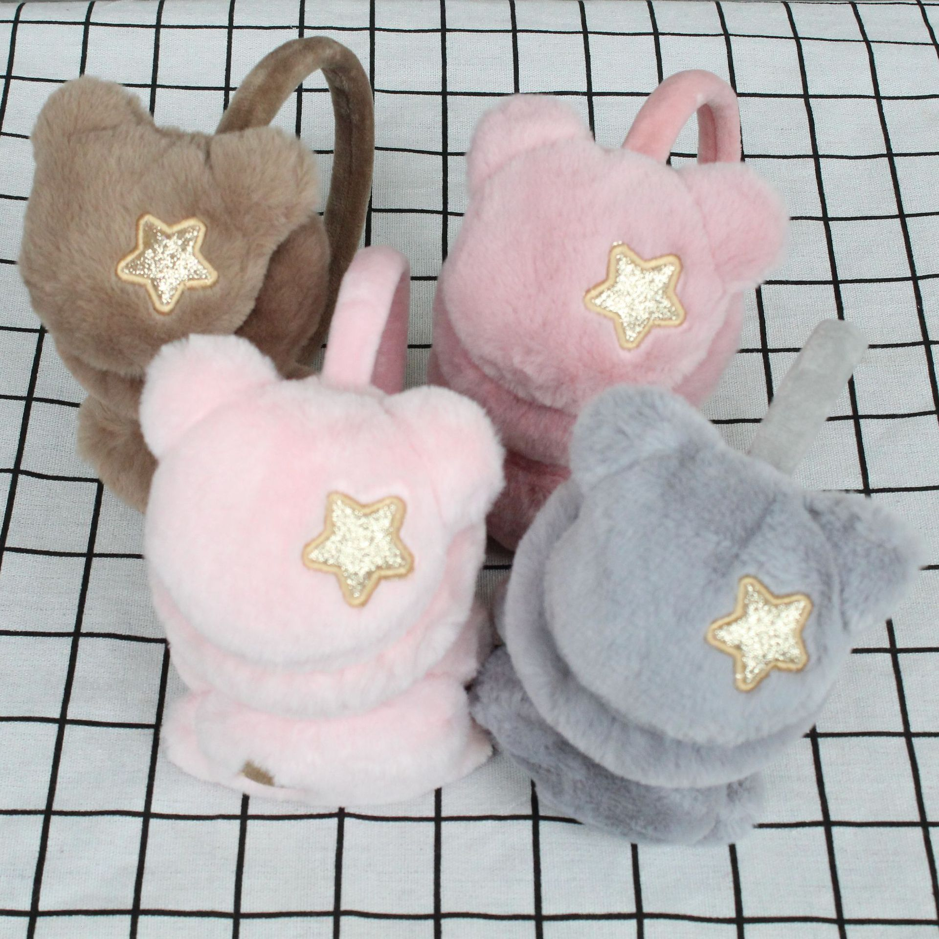 2019 New Earcup Warm Female Korean Version Cute Ear Cover Men's Winter Plush E-bag Folding Ear Cover Ear Cover Ear Cover