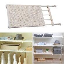 Adjustable Closet Organizer Storage Shelf Kitchen Rack Space Saving Wardrobe Decorative Shelves Cabinet Holders FAS цены онлайн