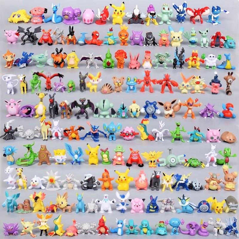 Takara Tomy Pokemon Action Figure Toys Mini Figures Model Toy Pikachu Anime Kids Doll Birthday Gifts 2-4cm 144pcs