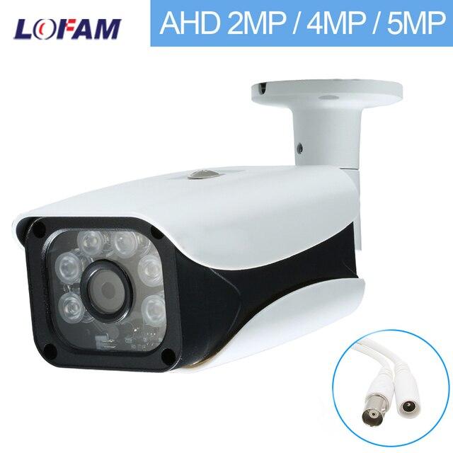 LOFAM cámara de seguridad AHD 1080P, 2MP, 4MP, 5MP, CCTV de vigilancia de Vídeo impermeable para interiores y exteriores, visión nocturna de día