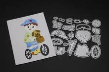 Gowing Child Cycling Metal Cutting Dies Scrapbooking Photo Album Embossing Paper Decorative Crafts Die Cut 2019 new(China)