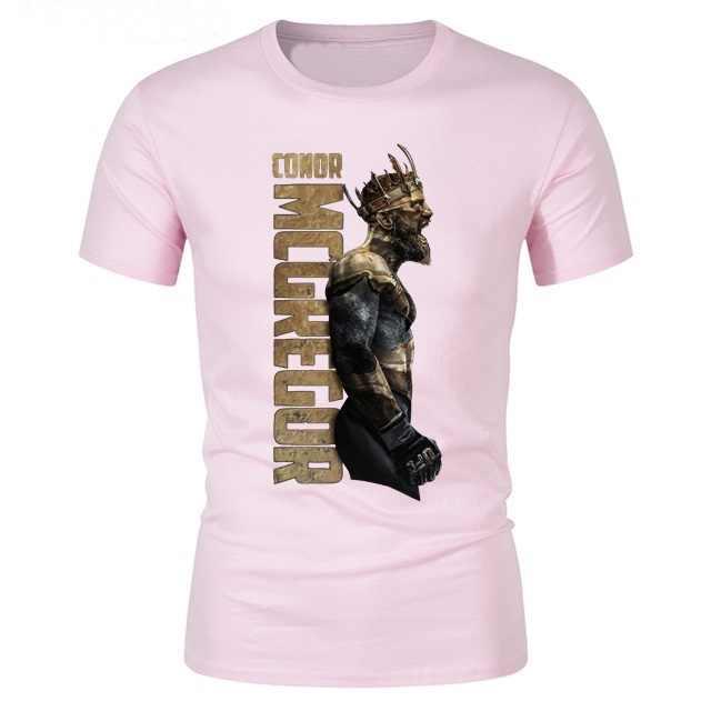 Encabeça homens camiseta T-shirt dos homens Loucos O Rei Notorious Conor McGregor MMA camiseta para jovens de manga curta casuais tee